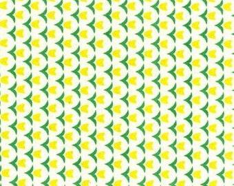 SALE - Folk Modern - Tulip yellow - JG-41600-4B by Ellen Luckett Baker from Kokka Fabrics