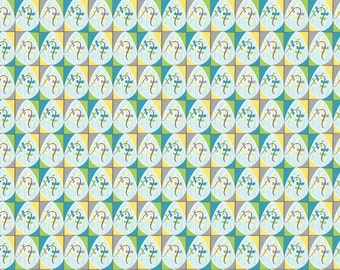 SALE - Blown Away - Lets Go Fly a Kite Blue Cotton Print Fabric from Blend Fabrics