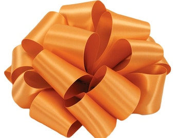 "Satin Ribbon, 1 1/2"" wide, Orange Double Sided Satin - TEN YARD ROLL - Offray Double Face Satin ""Pumpkin"" Wedding Ribbon, Sewing Trim"