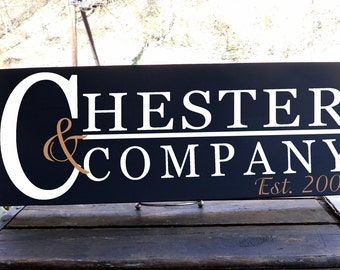 Family Name and Company Sign, Makes a Great Wedding Gift or Even a Gift For a Small Business