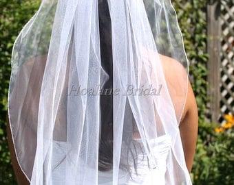 Single layer Veil, Bridal /First Communion veils,  Short length veils