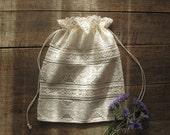 Bag, Lace gift bag, Lingerie bag, Travel bag, Christmas gift bag