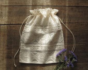 Lace gift bag, Lingerie bag, Travel bag, Valentine's gift bag