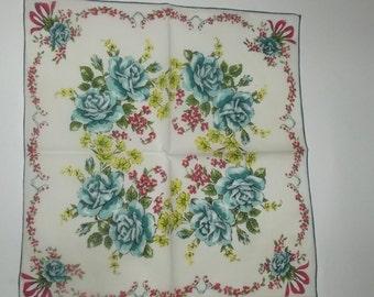 Exotic Blue Roses Handkerchief