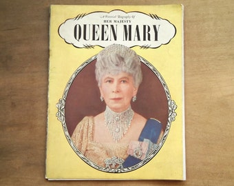 British royal Queen Mary booklet