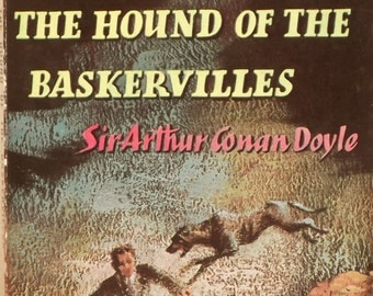 Sherlock Holmes book, The Hound of the Baskervilles by Sir Arthur Conan Doyle vintage book