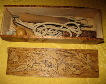 Pyrography Antique Tool Box