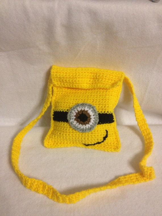 Despicable Me Minion inspire Crochet Shoulder BAG Messenger