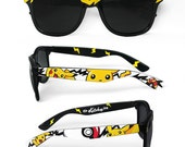 Pokemon Sunglasses - Custom Wayfarer sunglasses unique hand painted - Pokemon glasses - Pikachu - Pokéball - Fast Ball