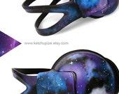 Space Galaxy Nebula Cosmic large headphones earphones hand painted blue purple