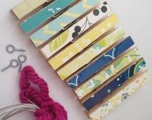 Kids Art Display. 10 Clothespins. Photo Hanging. Wall Clothesline Display. Childrens Picture Display. Pegs. Pins. Clip. Clothesline. Citrus.