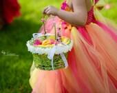 Orange-Yellow-Hot Pink TuTu Dress. baby tutu dress, toddler tutu dress, wedding, birthday, Newborn, 2t,3t,4t,5t