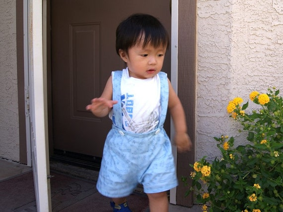 Handmade with love toddlers boys suspenders shorts