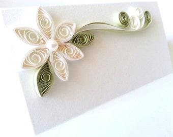 Wedding Place Cards, Cream Wedding, White Wedding Table Decor, Seating Card