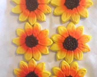 1 dozen sunflower sugar cookies