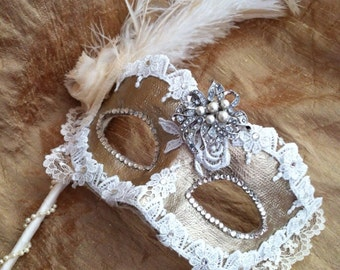 Bridal Couture  - Custom Vintage Venetian Mask