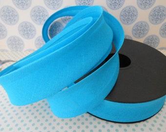 """Bias Tape Binding Turquoise 1""""width 10 Yards"""
