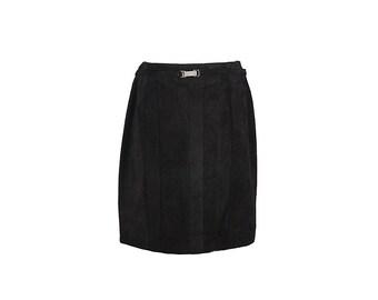 Nice black suede skirt