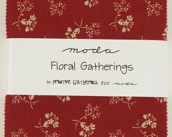 Sale Floral Gathering Charm pack by Primative Gathering for Moda fabric