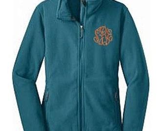 Monogrammed Women's Fleece Jacket, Personalized Women's Fleece Jacket, Fleece Jacket, Bridesmaid Jackets, Ladies Fleece Jacket, Bride Jacket