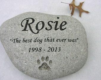 Dog Memorial Stone, Cat Memorial Stone, Pet Stones, Pet Grave Marker,