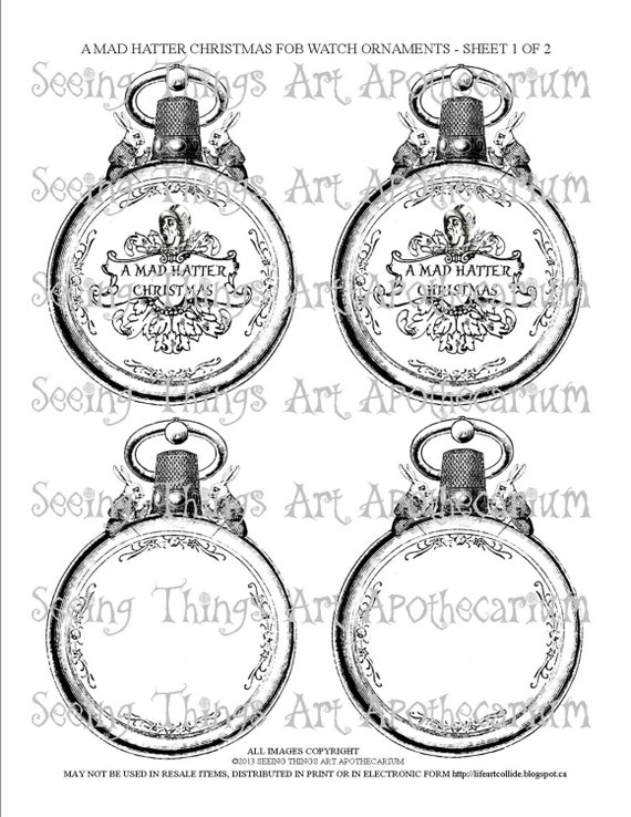 Mad Hatter Christmas Tree Ornaments
