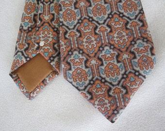 Pierre Cardin Geometric Necktie Cravat Vintage 1970s