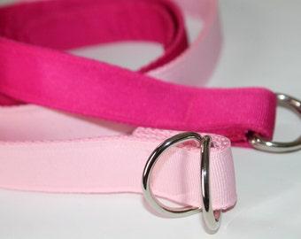 Hot Pink Belt Light Pink Belt Girls Pink Belt Pink Ribbon Belt Fuchsia Girls Belt Hot pink Girls Belt Ribbon Belt Girls D Ring Belt Pink