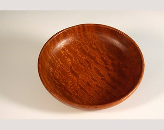 Quilted Sapele Decorative Bowl
