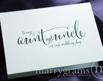 Wedding Card to Your Aunt and Uncle - Family of the Bride or Groom Cards - Aunt on My Wedding Day - Gift Card - CS07