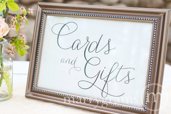 Wedding Gift And Card Table Ideas : Cards and Gifts Table SignWedding Table Reception Seating Signage ...