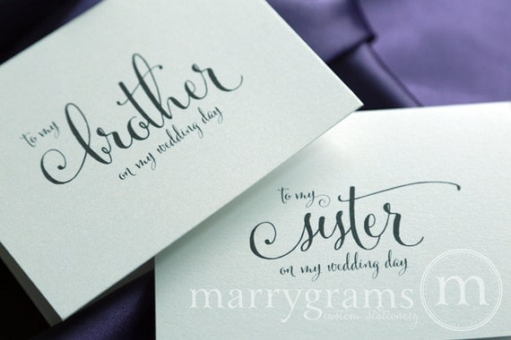 Wedding Day Gift For Sister : ... or Groom Cards - To My Sister on My Wedding Day Card for Gift - CS07