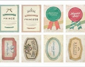 Retro Stamp Sticker Set - ver. 1- 06 Label - 2 Sheets - 16 Pcs