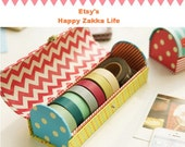 Paper Tape Box - 4 Designs for Choice - 1 Pcs