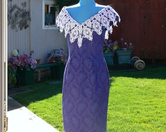 PURPLE off the shoulder boned dress size 14