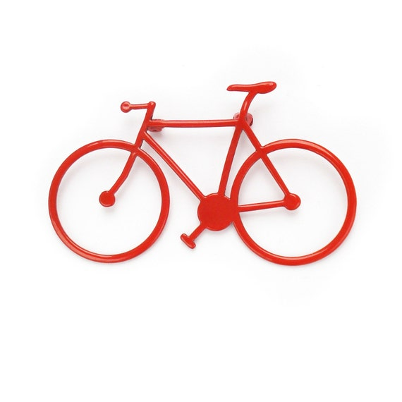 ON SALE - 20% OFF - Bicycle Brooch, laser cut from brass then powder coated