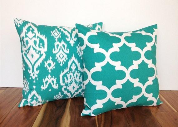Jade Decorative Pillows : 2 Jade Green Decorative Throw Pillow Covers. 12 Sizes.