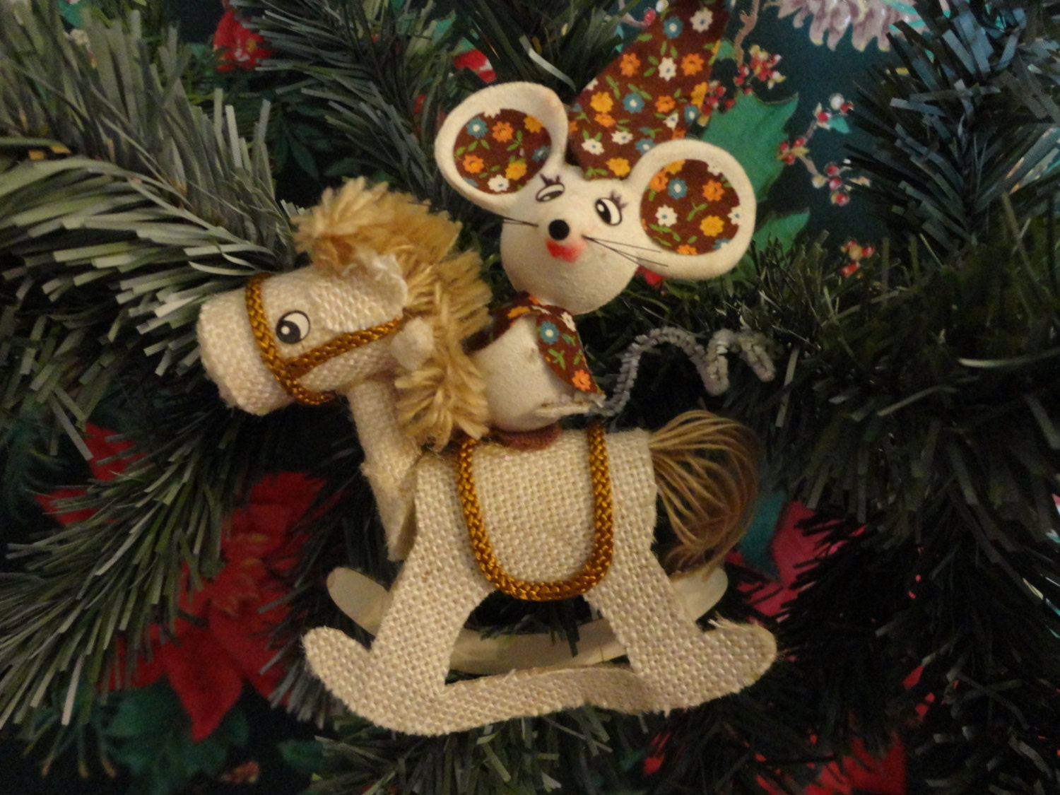 Vintage Christmas 1960s Ornament Felt by CountryCoveCreations