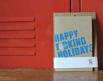 "Happy Holidays Card (4x6"") & Envelope"