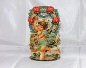 Vintage Unused Victorian 3D Pop Up Valentine Card
