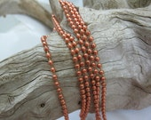 2.4mm Bright COPPER BALL CHAIN, Copper Connector with each Foot of Chain, 10 ft to 60 ft Bulk Chain