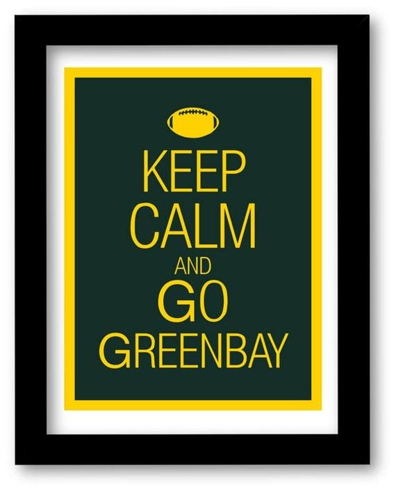 Greenbay Packers Art Print - Keep Calm and Carry On - football - team -