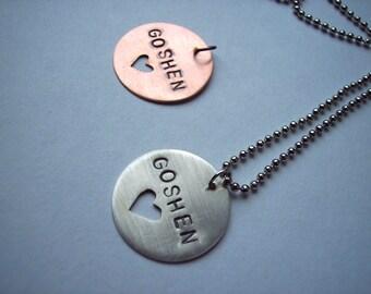 "Copper or Silver ""Goshen Love"" Necklace"