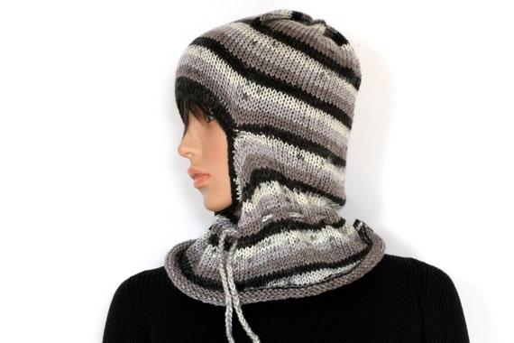 Ski Mask Knitting Pattern : Custom Hand Knit Ski Mask PDF Pattern Knitted Ski Mask by etty2504