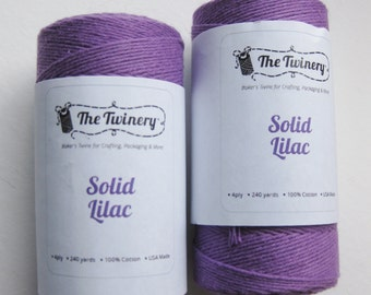 10 Yards of SOLID LILAC - Purple Bakers Twine