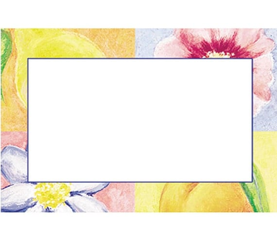 Garden floral print florist blank enclosure cards small