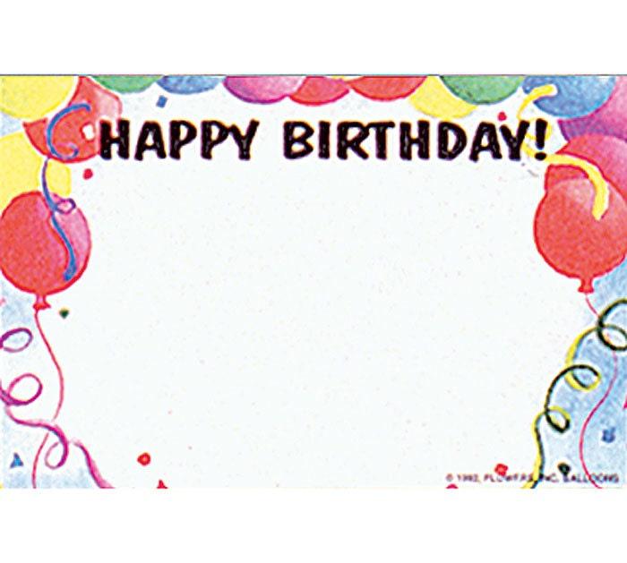 50 Balloons Happy Birthday Print Florist Blank
