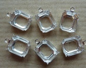 6 prong settings, 12x10mm, Octagon, 1 ring, light silver
