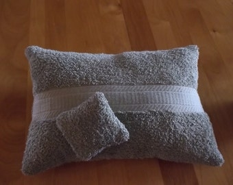 """Spa Pillow, sage green 9 x 13""""   and lavender filled mini pillow for the towel or lingerie drawer."""