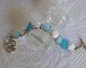 Aqua Bracelet, Lovely Winter Jewelry